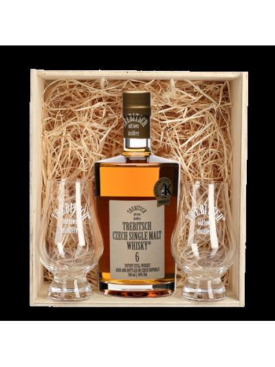 TREBITSCH Czech Single Malt Whisky 40% 6YO v dárkovém balení se skleničkami