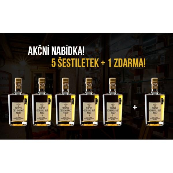 TREBITSCH Czech Single Malt Whisky 40% 6YO 0.5l 5+1 zdarma