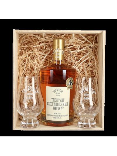 TREBITSCH Czech Single Malt Whisky 40% v dárkovém balení se skleničkami