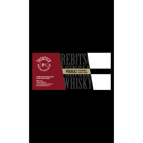 Poukaz na konzumaci a nákup v TREBITSCH Whisky Baru
